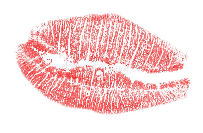 Red lips imprint stock photography