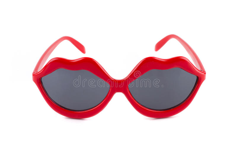Download Red lips sunglasses stock photo. Image of white, object - 20195204