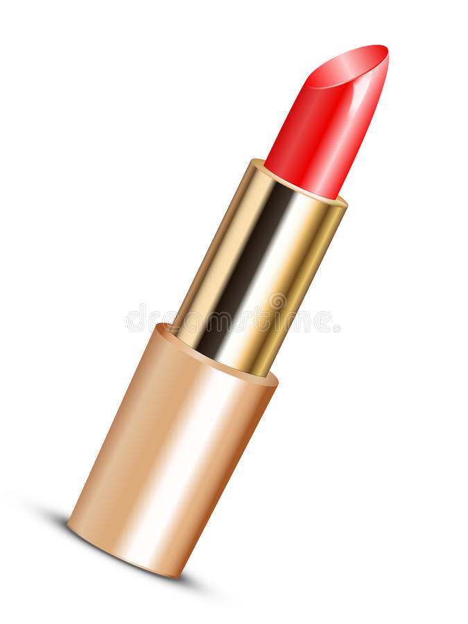 Download Red lipstick stock vector. Illustration of glossy, beauty - 27488375