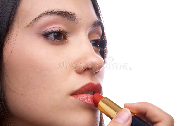 Red lipstick royalty free stock images