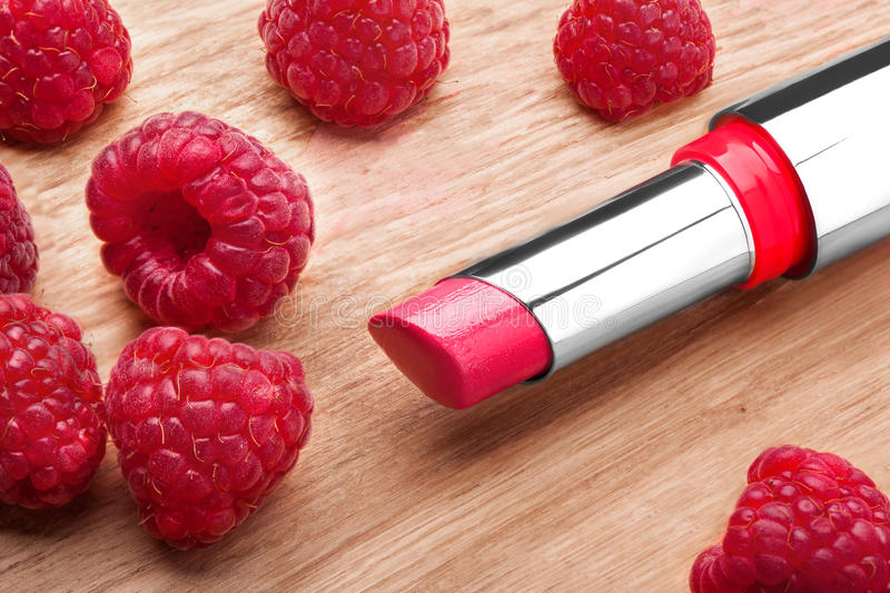 The Red lipstick stock images