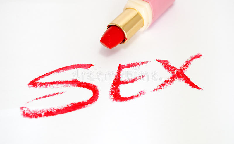Download Red lipstick and sex stock image. Image of isolated, white - 16169523