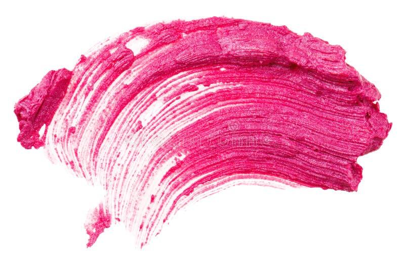 Red lipstick stroke stock image