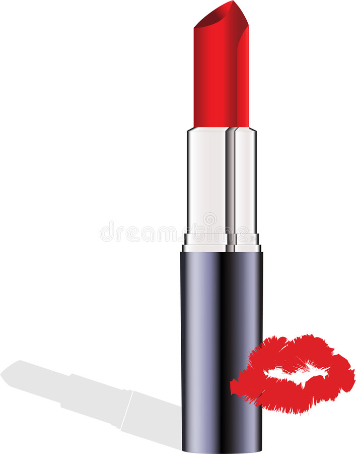 Download Red lipstick vector stock vector. Image of rouge, isolated - 7454107