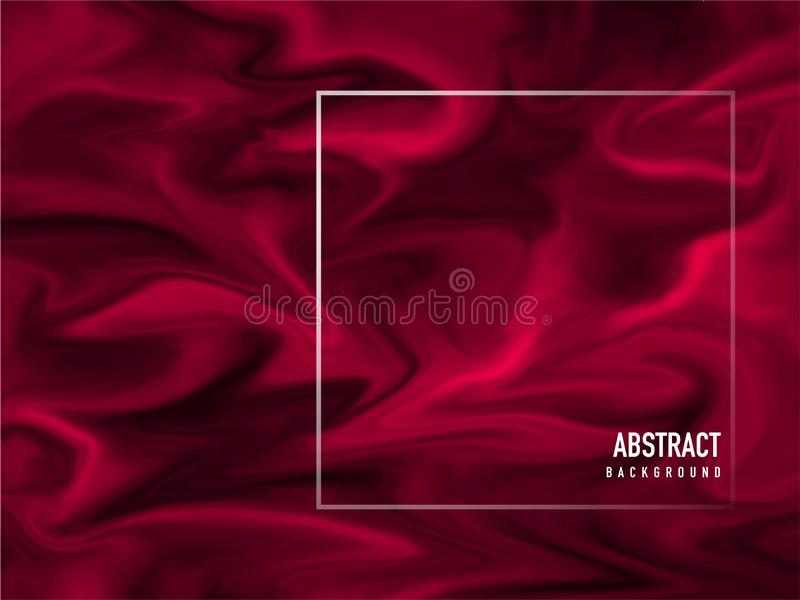 Red liquid flow or acrylic painting abstract. stock illustration