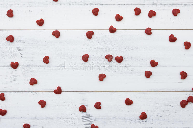 Red little hearts royalty free stock photo