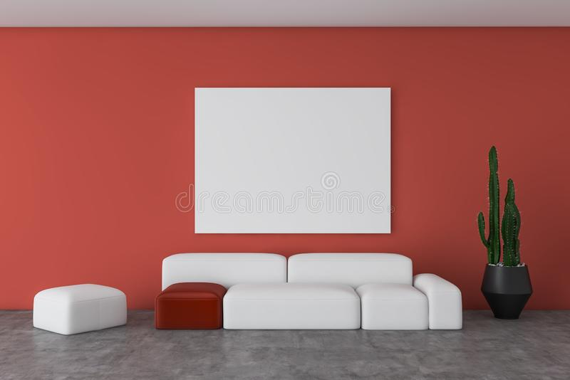 Living Room Red Walls Stock Illustrations – 630 Living Room ...