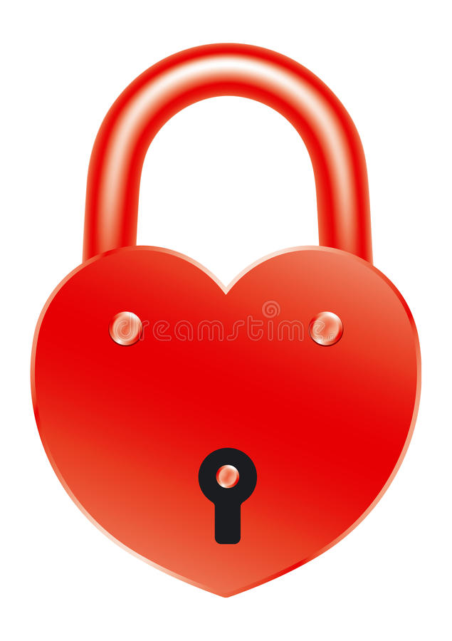 Download Red lock stock vector. Image of lock, amorousness, marriage - 17299084