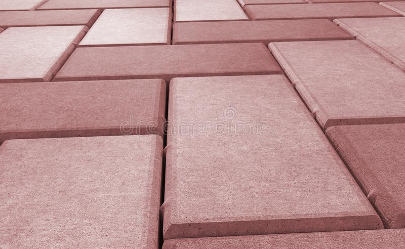 Red lock paving texture. wallpaper. 3D realistic render of red lock paving texture. wallpaper royalty free illustration