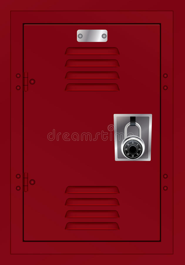 Free Red Locker And Combination Lock Illustration Royalty Free Stock Image - 78802426