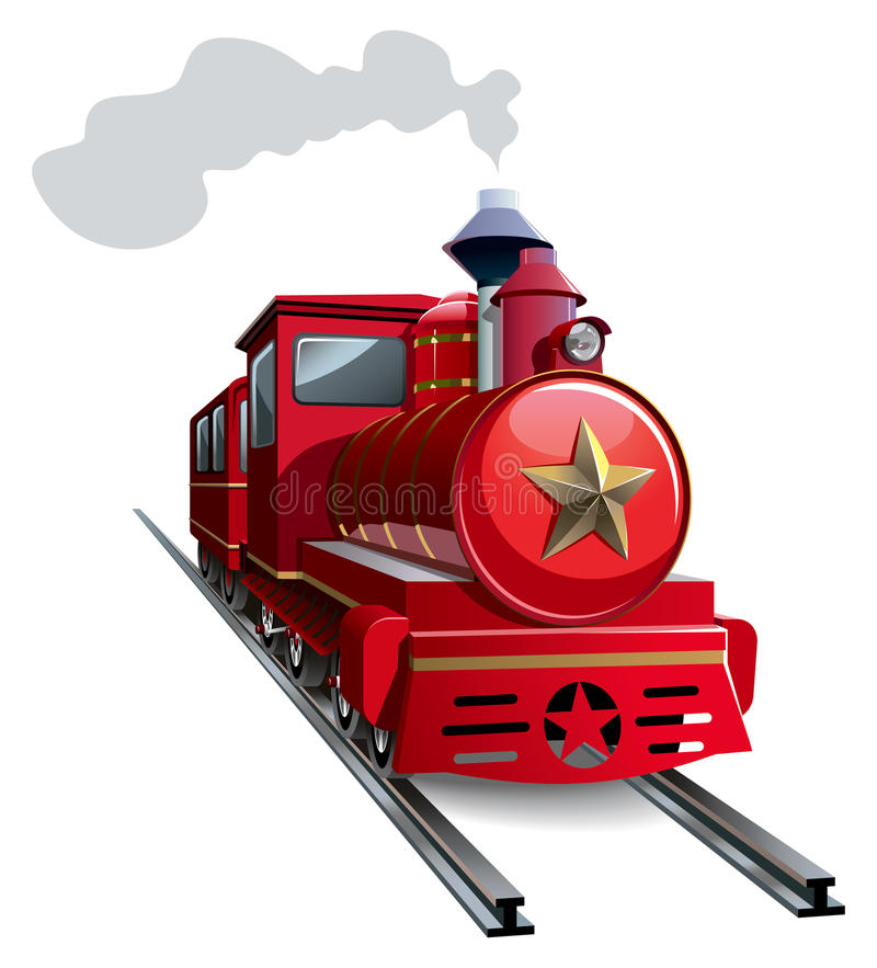 Red Locomotive Royalty Free Stock Images