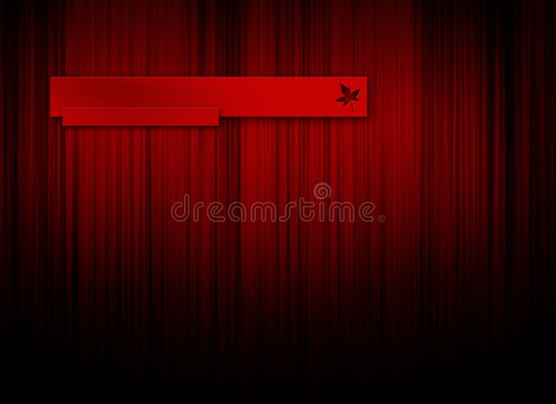 Red logo background
