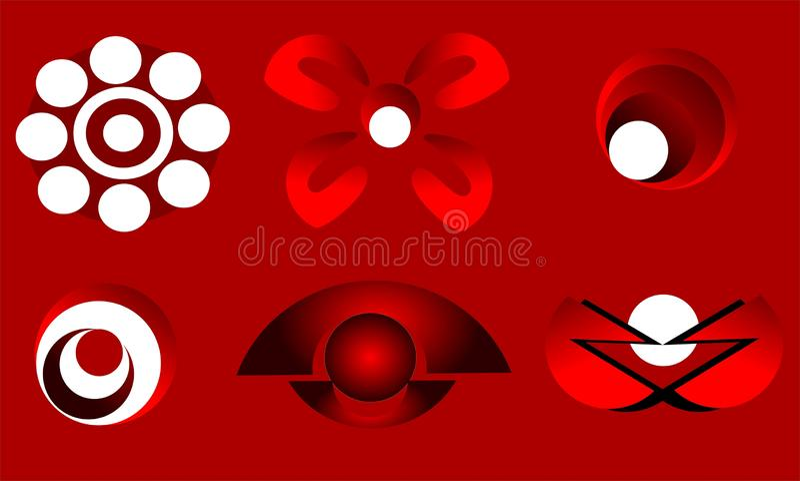 Red logos stock illustration