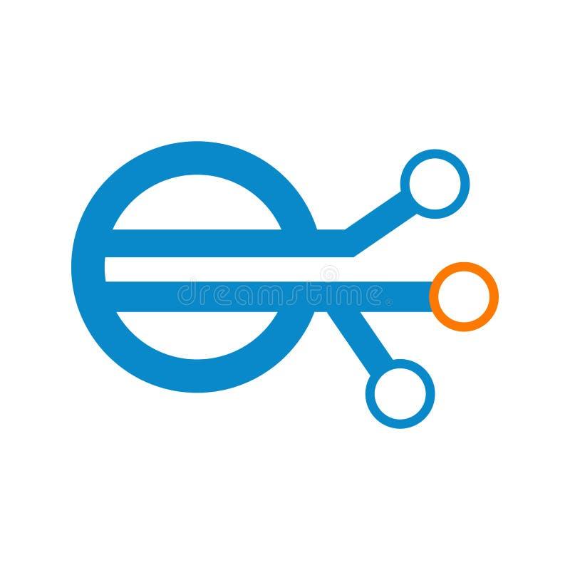 Red Logo Vector Graphic de la conexión ligada de la tecnología stock de ilustración