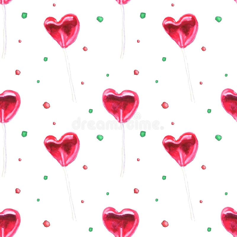 Red lollipops pattern royalty free stock photo