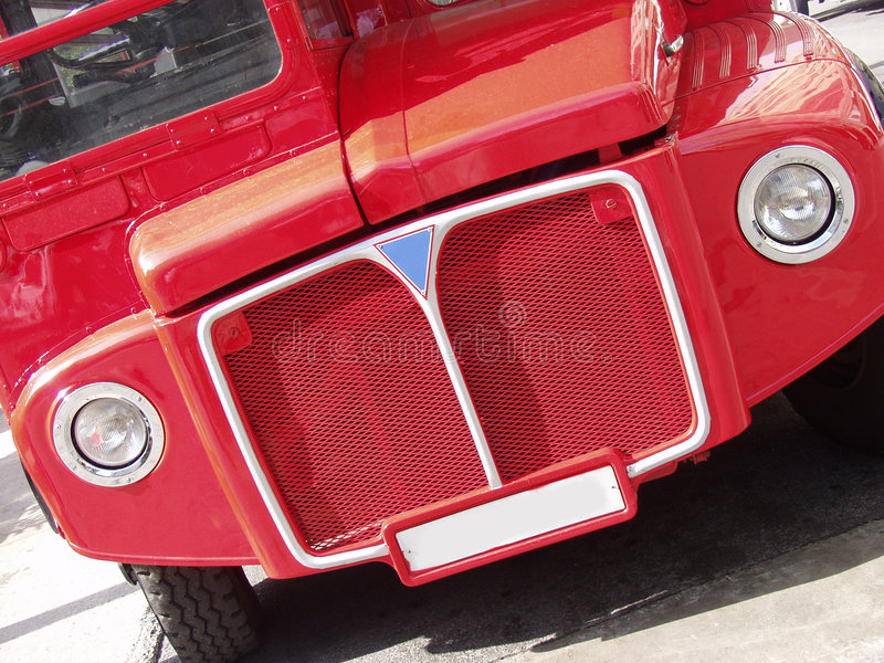 Red London Bus Front Royalty Free Stock Photography