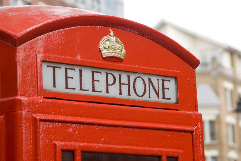 Download Red London Telephone Box stock photo. Image of crest, kingdom - 3419322