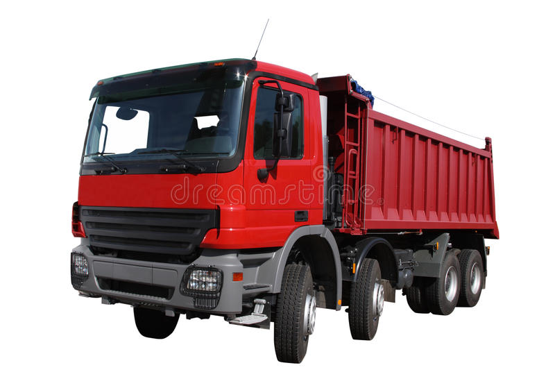 The red lorry. Separately on a white background stock photography