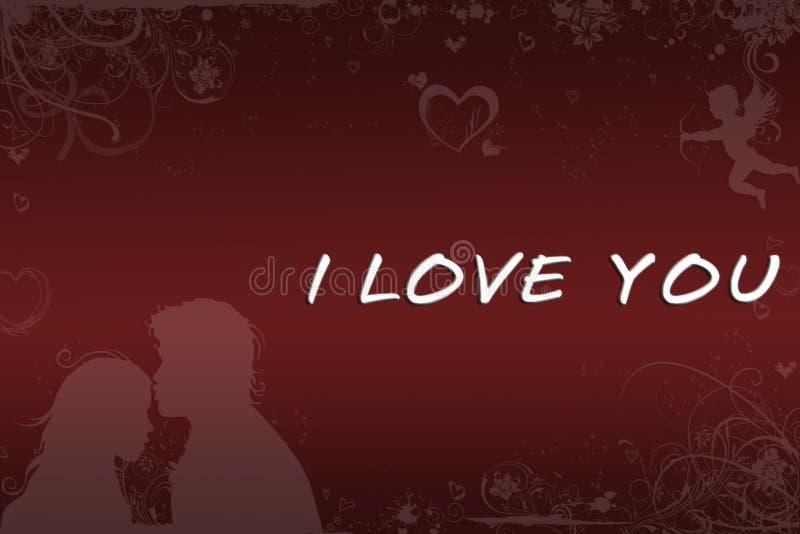 Red love. Abstraction love red background for design artworks vector illustration