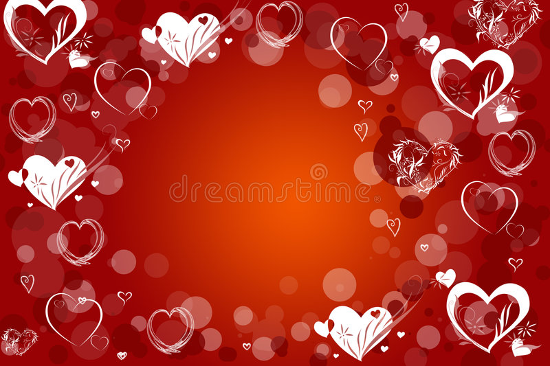 Red love. Abstraction love red background for design artworks royalty free illustration