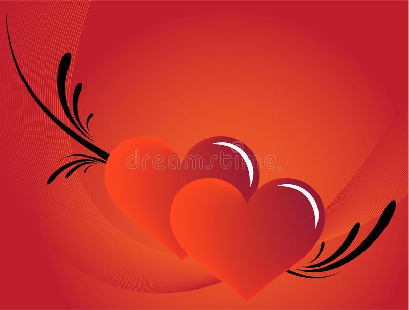 Red love background stock photography