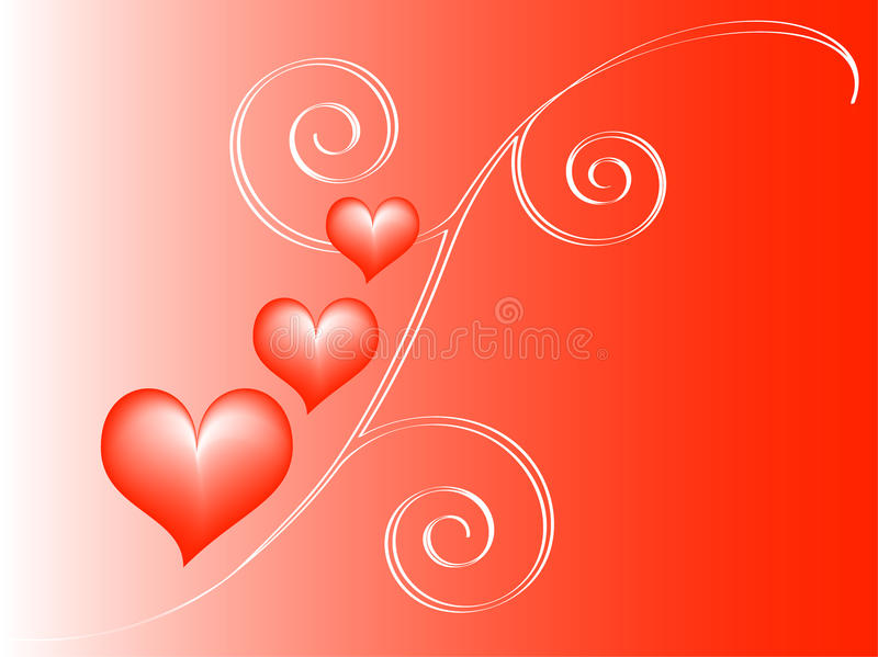 Red love background royalty free stock image