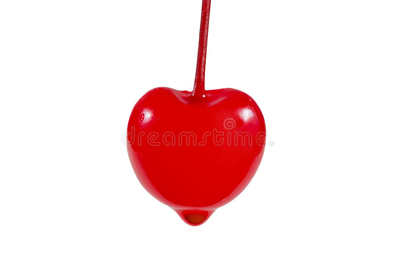 Download Red love cherry. stock image. Image of drop, fresh, path - 22314965
