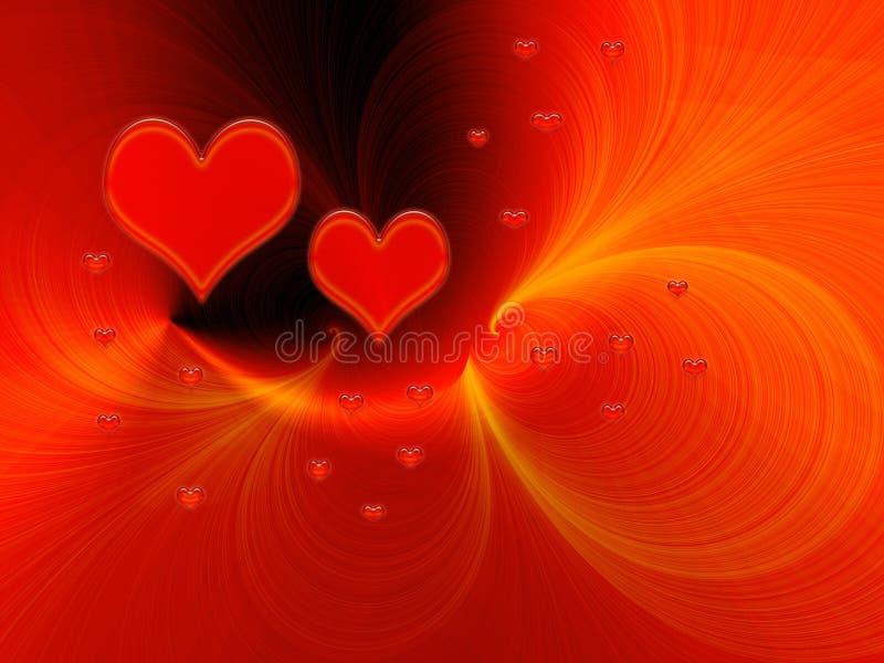 Red love fantasy royalty free illustration