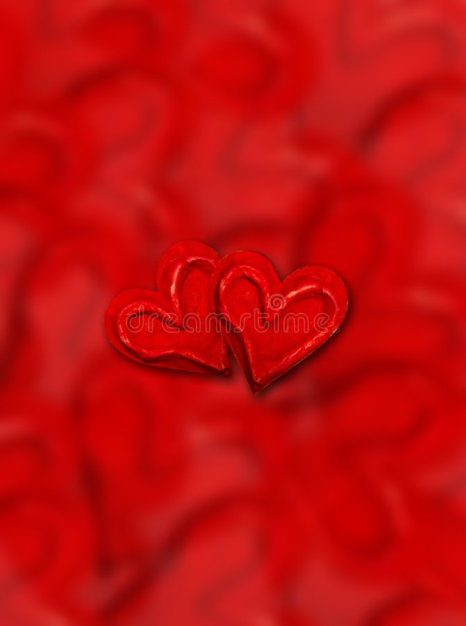Red love hearts stock photo