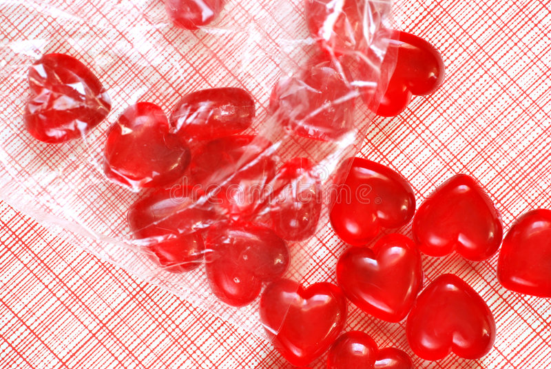 Red love hearts