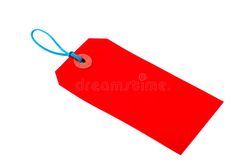 Download Red Luggage Tag stock photo. Image of copy, message, gift - 13809694