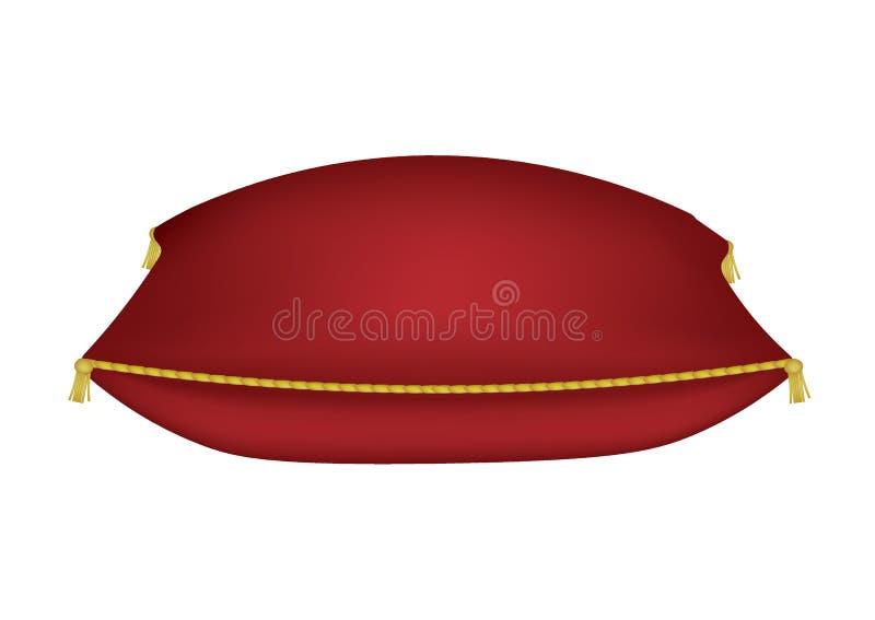 Red luxe kussen stock illustratie