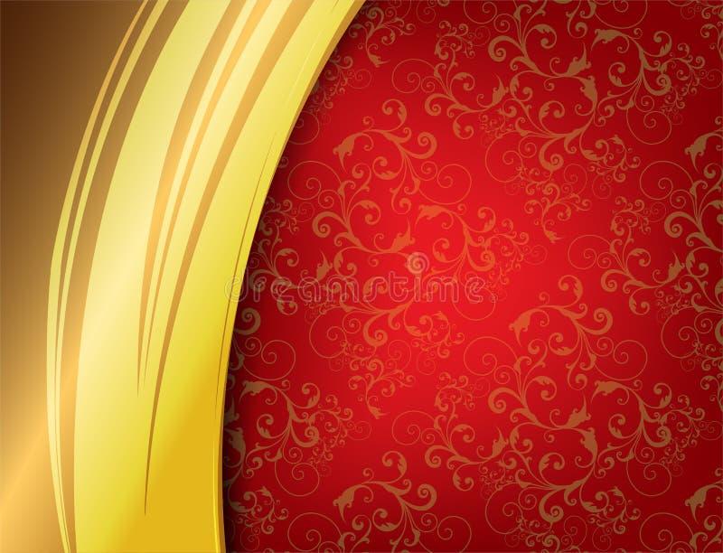 Download Red Luxury Background stock vector. Image of dark, baroque - 27819304