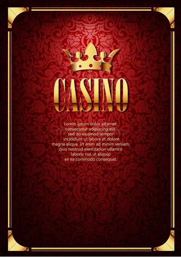 Red Luxury Casino Gambling Background. Luxury Casino Gambling Background with Golden Crown royalty free illustration