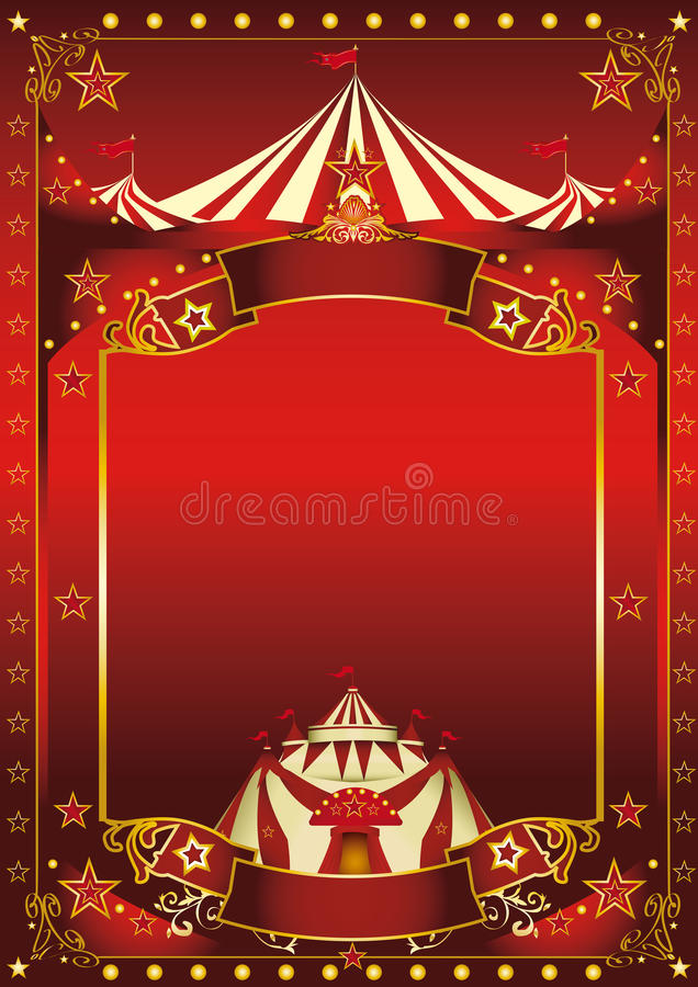 Red magic circus poster royalty free stock photography