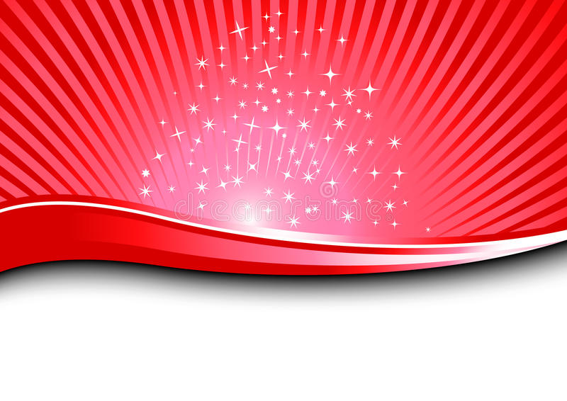 Red magical background stock illustration