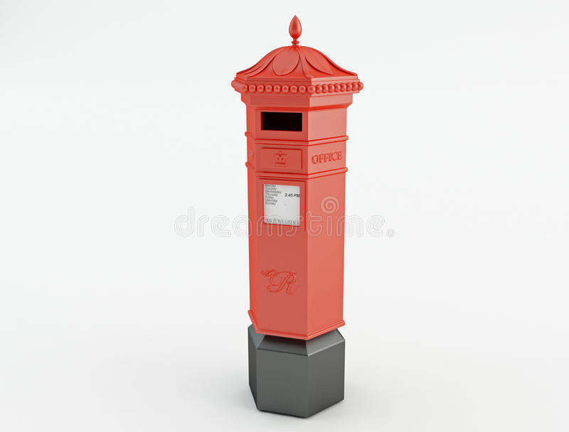 Red Mail box royalty free stock images