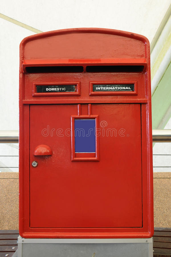 Download Red mail box in London stock photo. Image of equipment - 26421166