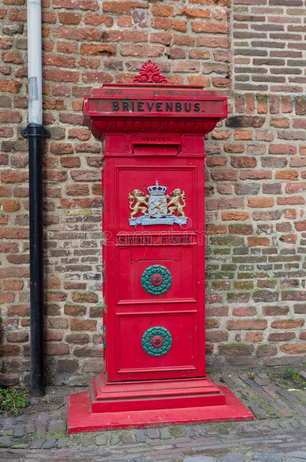 Download Red mail box stock image. Image of collection, registered - 32153927