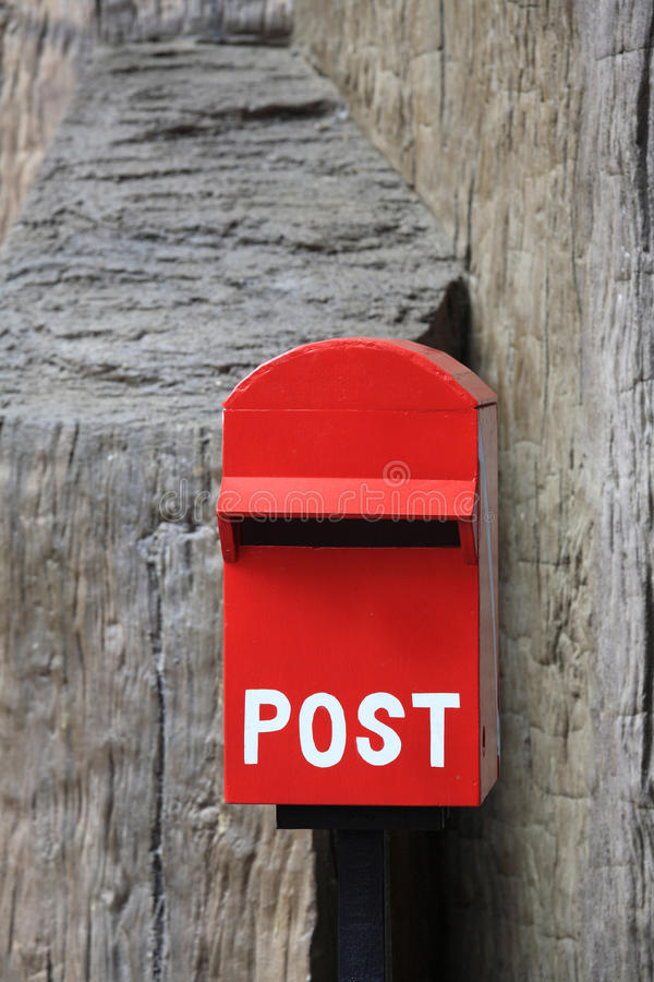 Download Red mail box stock illustration. Illustration of mailbox - 39200901
