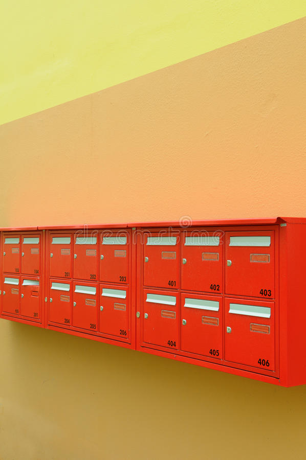 Download Red mailboxes stock image. Image of stamp, delivery, envelope - 14832673