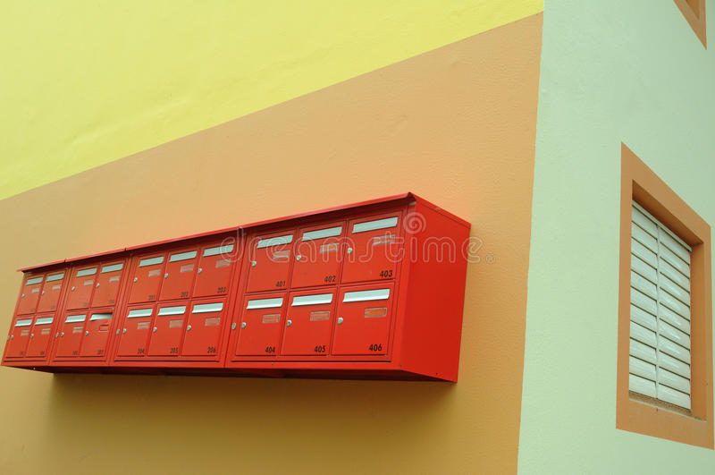 Download Red mailboxes stock photo. Image of delivery, postman - 14850876
