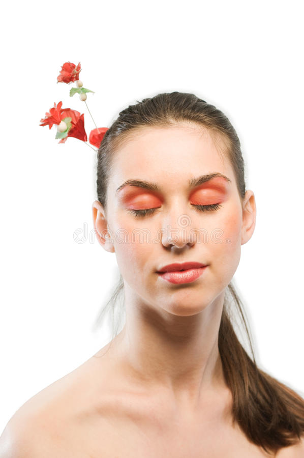 Red make up stock photography
