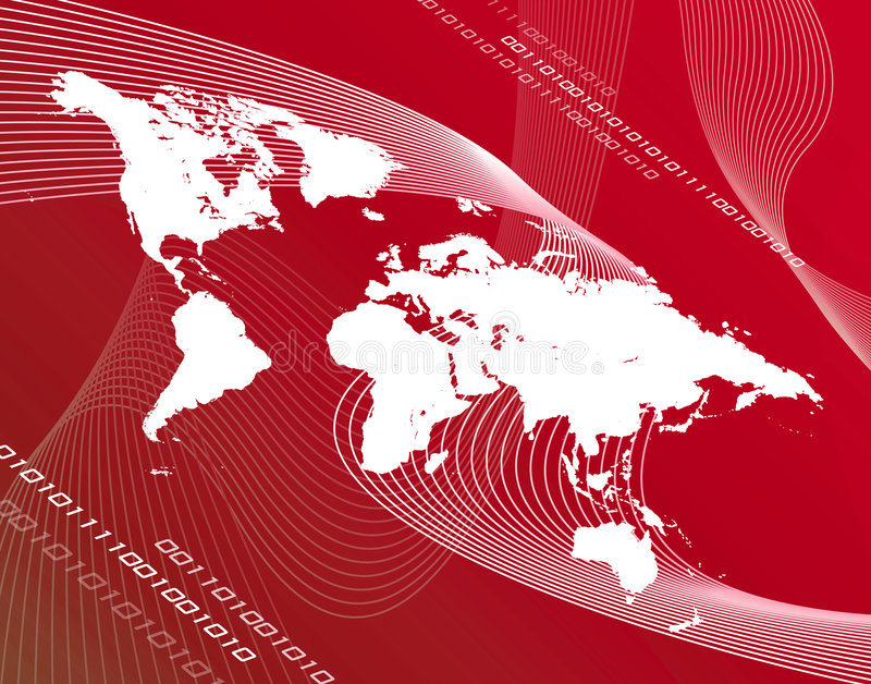 Red map stock illustration