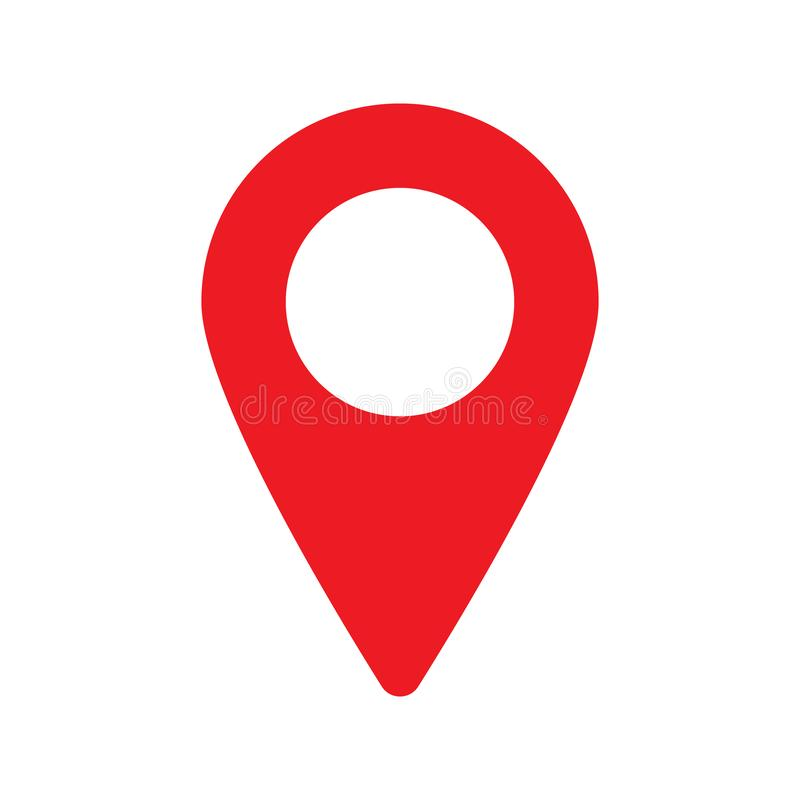 Red maps pin. Location map icon. Location pin. Pin icon vector. Vector illustration isolated on white background vector illustration
