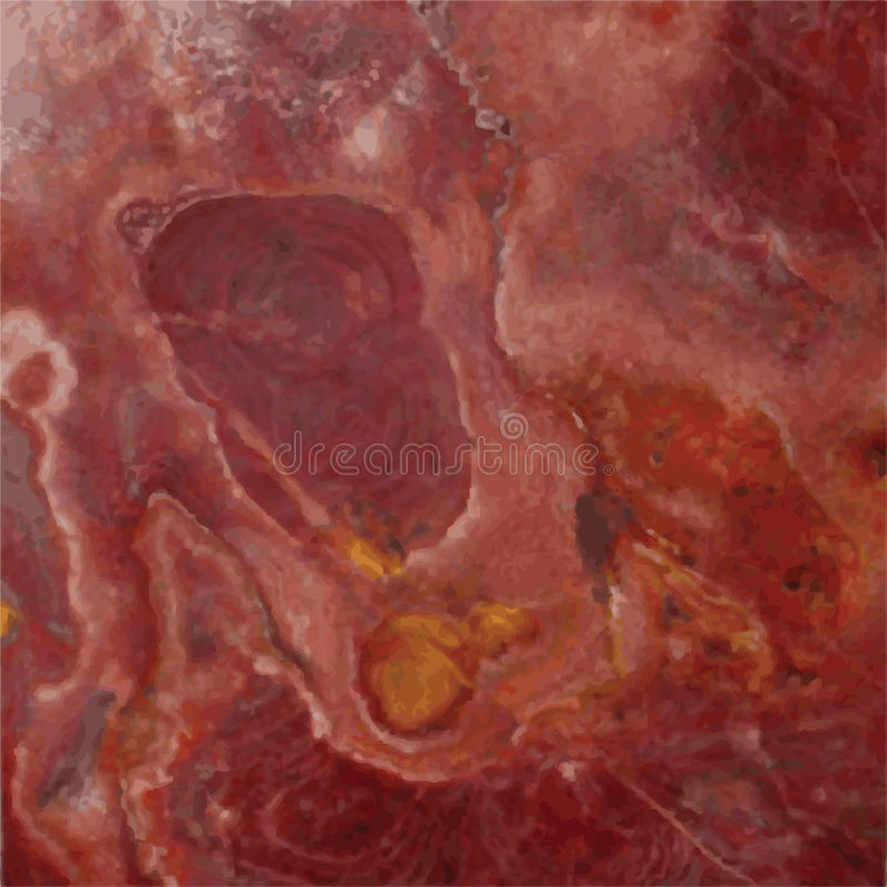Red Marble stock illustration