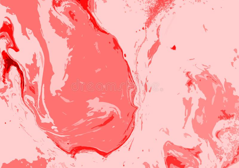 Red marble paint background wallpaper design vector illustration