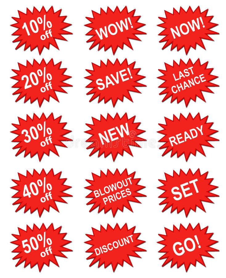 Red marketing banner stock images
