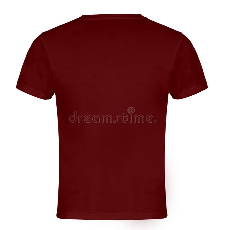 Red, Maroon Blank T-shirt Back royalty free stock photo