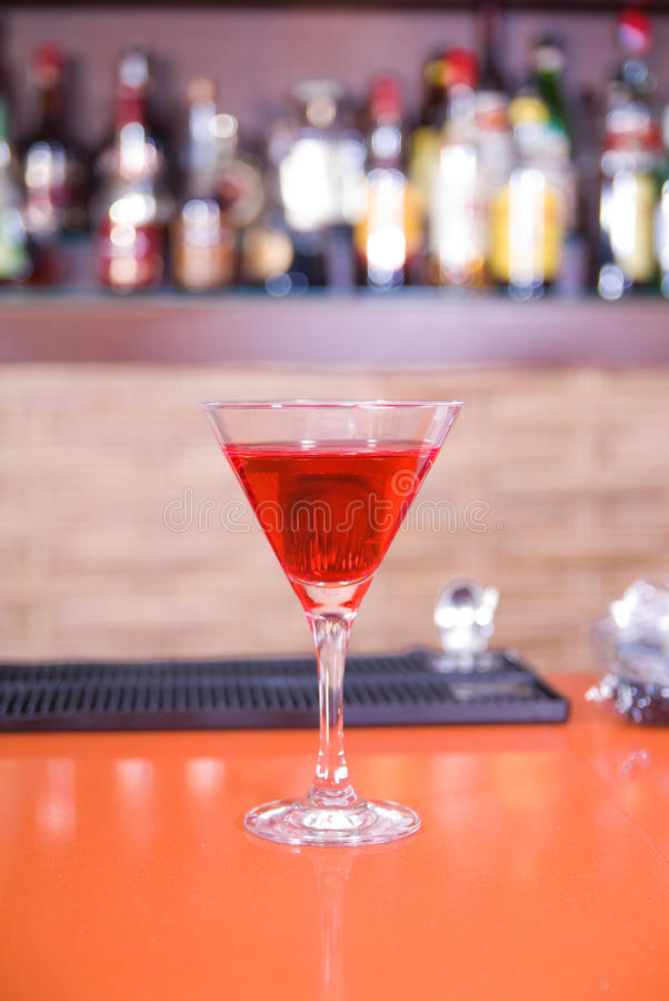 Free Red Martini Drink Cocktail In A Bar Royalty Free Stock Image - 12863386